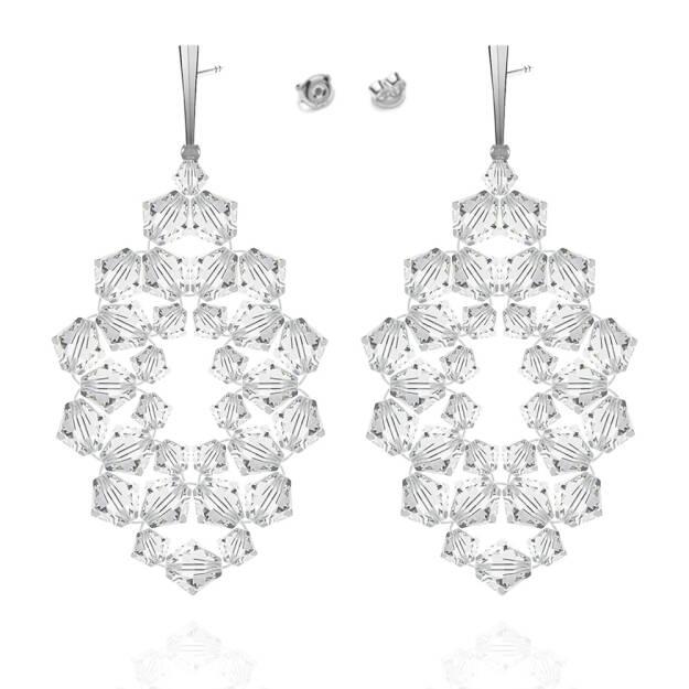 Kolczyki  kryształy  srebro