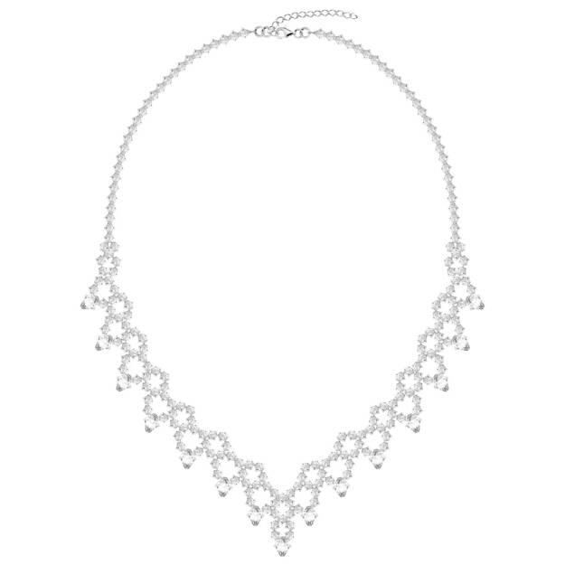 Naszyjniki  kryształy  biżuteria ślubna