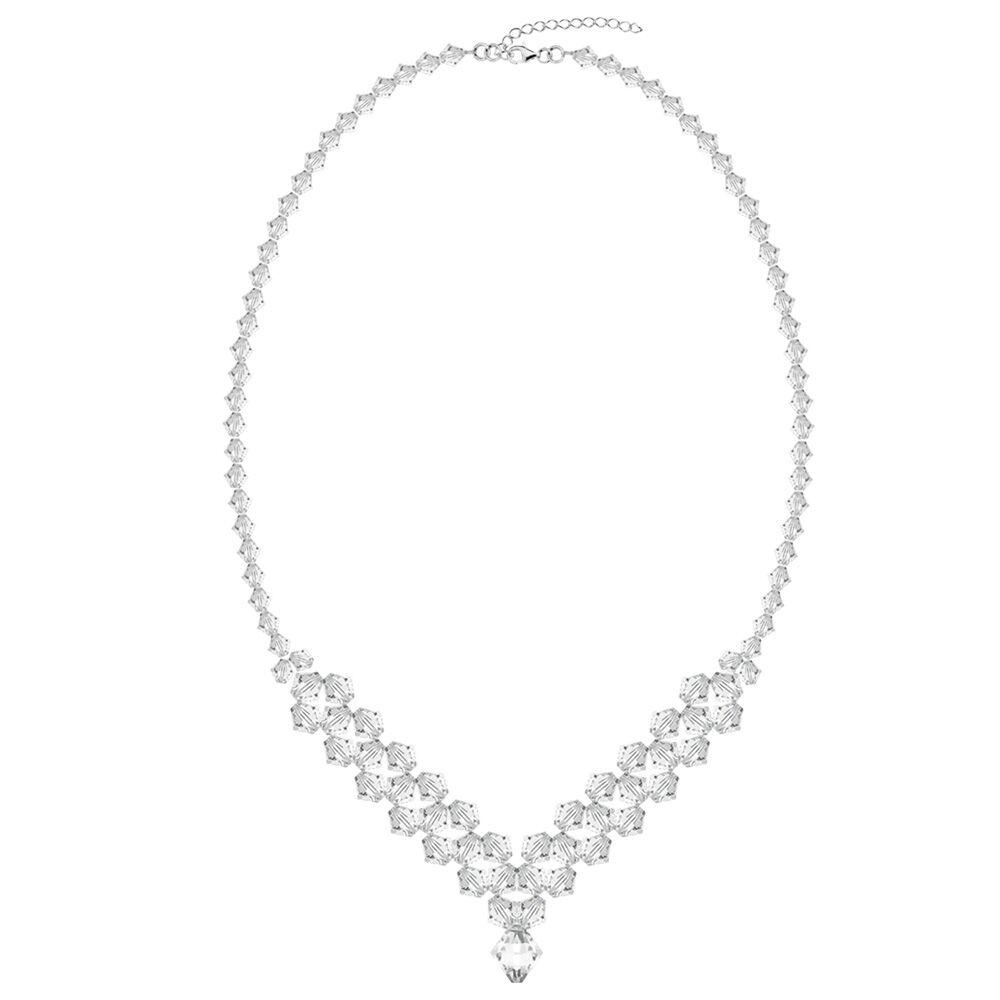 Naszyjnik  kryształy  biżuteria ślubna
